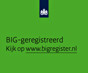 banner BIG register, vierkant groen