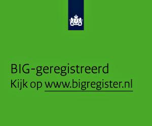 banner BIG register, vierkant groen